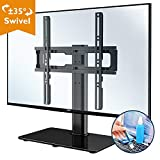 BONTEC TV Standfuss TV Ständer Standfuß Schwenkbar für 26-55 Zoll LCD LED OLED Plasma Flach & Curved Fernseher bis zu 40KG, Höhenverstellbar & Stabil Max.VESA 400x400