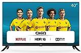 CHiQ Smart TV 40 Zoll, Full HD,WiFi, Amazon Prime video,Bluetooth, YouTube, Netflix, Triple Tunner