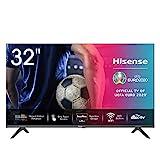 Hisense 32AE5500F 80 cm (32 Zoll) Fernseher (HD, Triple Tuner DVB-C/S/S2/T/T2, Smart-TV, Frameless, Prime Video, Netflix, YouTube, DAZN)