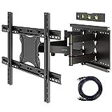 BONTEC TV Wandhalterung Schwenkbar Neigbar Wand Halter Aufhängung Fernseher Halterung für 37-80 Zoll (ca. 94-203cm) Curved LCD/LED Vollbewegung - 90kg Tragfähigkeit – VESA 100x100-600x400