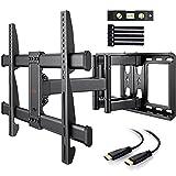 TV Wandhalterung Schwenkbar Neigbar max.VESA 600x400mm für 37-75 Zoll (94-190cm) LED LCD Flach & Curved Fernseher oder Monitor bis zu 60kg (37-75 Zoll)