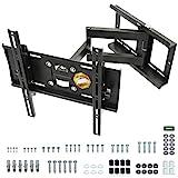 RICOO TV Wandhalterung Schwenkbar Neigbar, (R23-S) Universale TV-Halterung für 31-65 Zoll (bis zu 95-Kg, Max-VESA 400x400 mm) Flach Curved-Bildschirm Flachbild-Fernseher