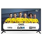 CHiQ L40G4500 100cm Fernseher 40 Zoll TV FHD LED Fernseher, Triple Tuner, HDMI, USB, CI+, H.265, Dolby Plus, Schwarz