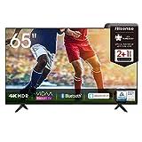 Hisense 65AE7000F 164 cm (65 Zoll) Fernseher (4K Ultra HD, HDR, Triple Tuner DVB-C/S/S2/T/T2, Smart-TV, Frameless, Bluetooth, Alexa, verstellbare Standfüße, 3 Jahre Garantie)