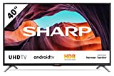 SHARP Android TV 40BL5EA, 101 cm (40 Zoll) Fernseher, 4K Ultra HD LED, Google Assistant, Amazon Video, Harman/Kardon Soundsystem, HDR10, HLG, Bluetooth
