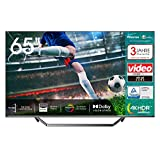 Hisense 65U7QF QLED 163cm (65 Zoll) Fernseher (4K ULED HDR Smart TV, HDR 10+, Dolby Vision & Atmos, Full Array Local Dimming, WCG, USB-Recording, Ultra Slim Design, Mittelstandfuß, Alexa Built-in)