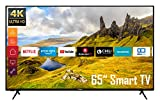 Telefunken XU65K529 65 Zoll Fernseher (Smart TV inkl. Prime Video/Netflix/YouTube, 4K UHD, HDR, HD+) [Modelljahr 2021]