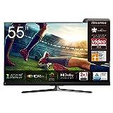 Hisense 55U8QF QLED 139cm (55 Zoll) Fernseher (4K ULED HDR Smart TV, Ultra Premium HD, HDR10+, Dolby Vision&Atmos, Full Array Local Dimming, 120Hz Panel, USB-Recording, JBL sound, Alexa Built-in)
