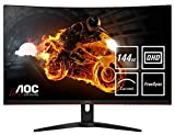 AOC Gaming CQ32G1 80 cm (31.5 Zoll) Curved Monitor (HDMI, DisplayPort, 2560x1440@144 Hz, 1 ms, Free-Sync) schwarz