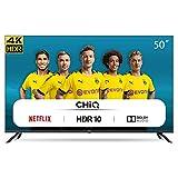 CHiQ Rahmenloser UHD Fernseher 50 Zoll TV 4k Randlos Smart TV 126 cm Bilddiagonale [Assembled in EU] (Version 2020, Amazon Prime Video, Youtube, Netflix)